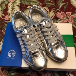 Tory Burch ruffle trainer leather sneakers